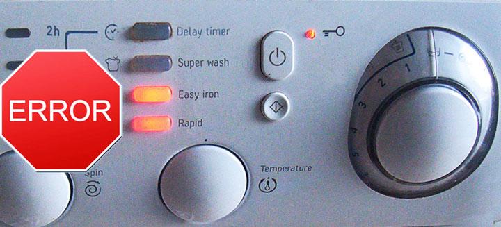 Горящий индикатор на стиральной машине