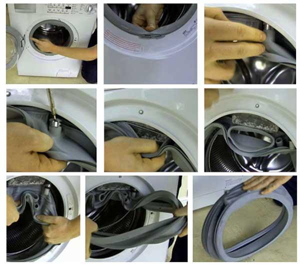 Как заклеить резину в стиральной машине