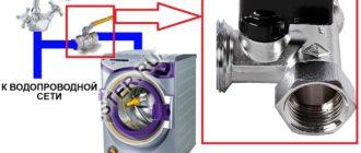 Запорный кран для стиральной машины