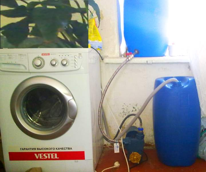 Синие баки для стиралки своими руками