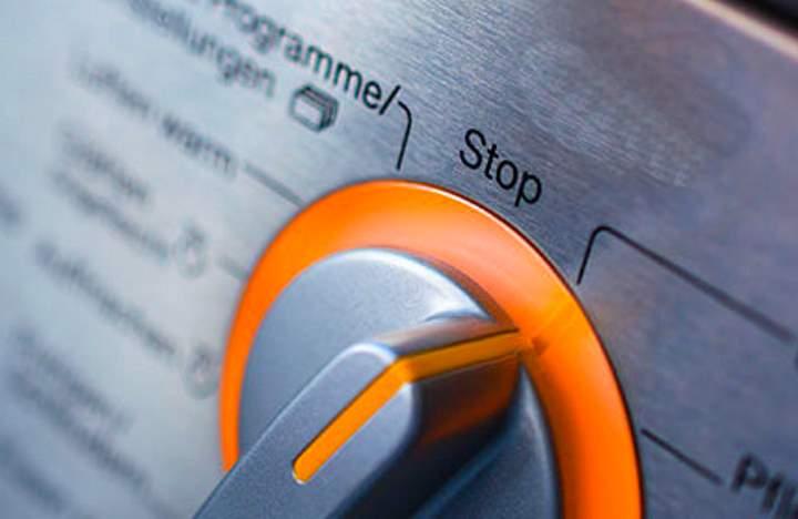 Ручка Стоп на панели машинки