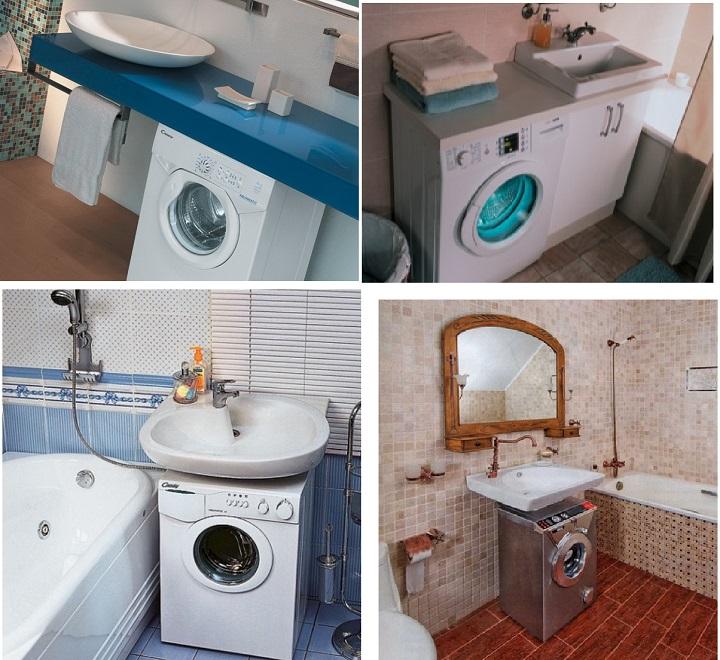 Обустройство ванной комнаты с маленькой машинкой