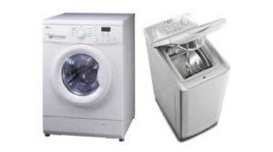 Виды стиральных машин по способу загрузки белья