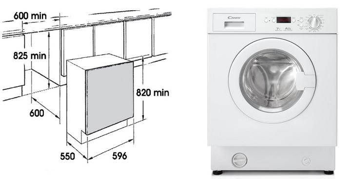 Сколько места надо для стиральной машины