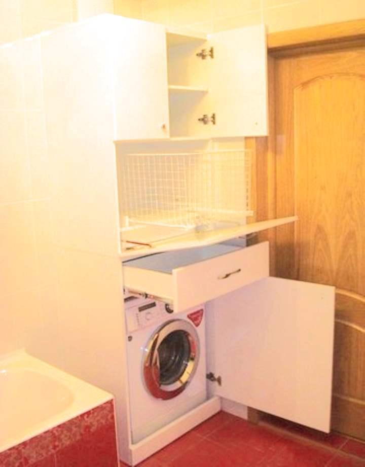 Шкафчик для стиральной машины в ванной