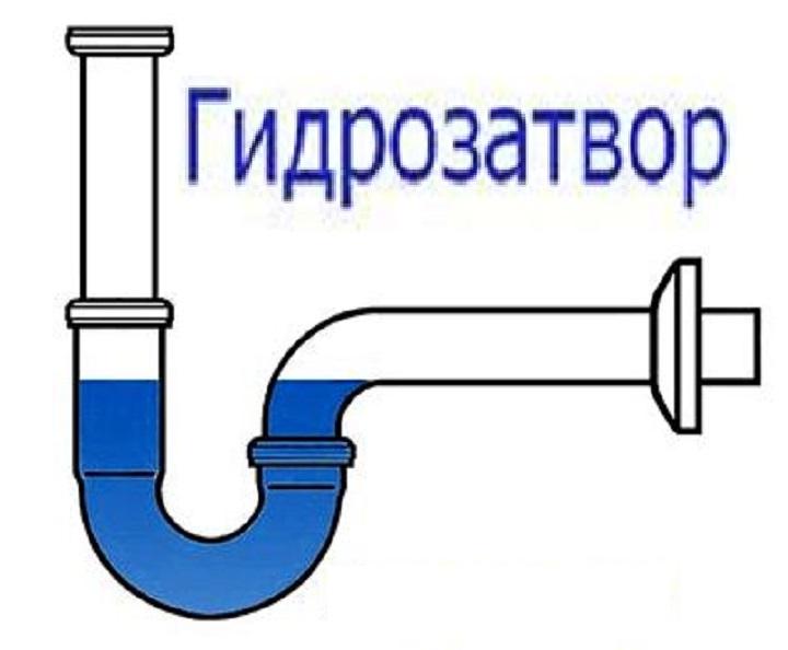 Гидрозатвор в схеме устройства сифона