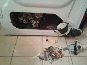Засорение фильтра слива стиральной машины
