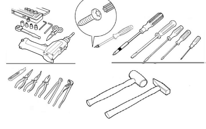 Инструменты для разборки машины