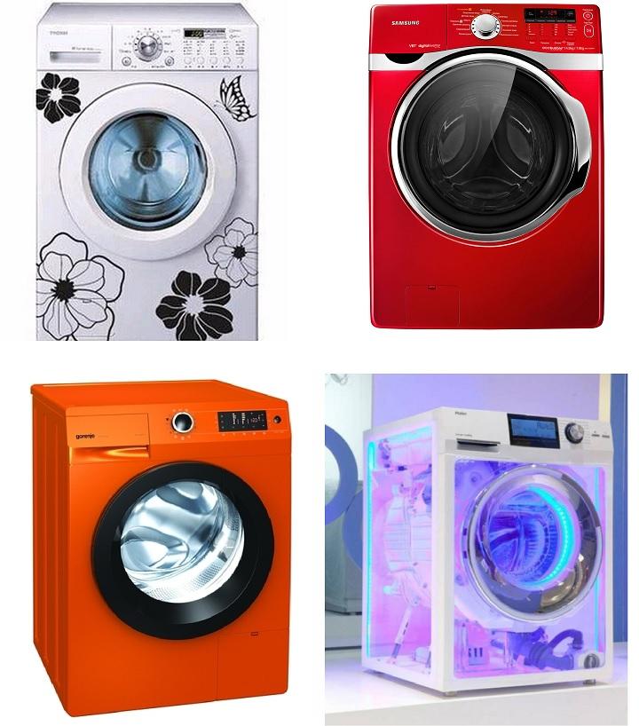 4 красивых стиральных машинки