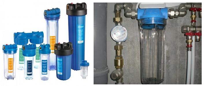 Магистральный фильтр в системе водопровода