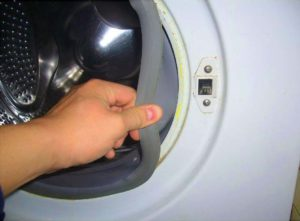 Загрязненность манжеты стиральной машинки
