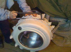 Распил неразборного бака стиральной машины