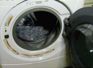 Затруднен слив стиральной машины