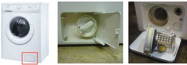 Посторонние предметы в фильтре стиральной машины