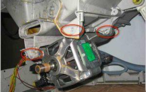 Проблемы с креплением двигателя стиральной машины