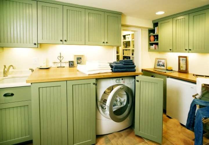 Оливковая мебель для стиральной машины