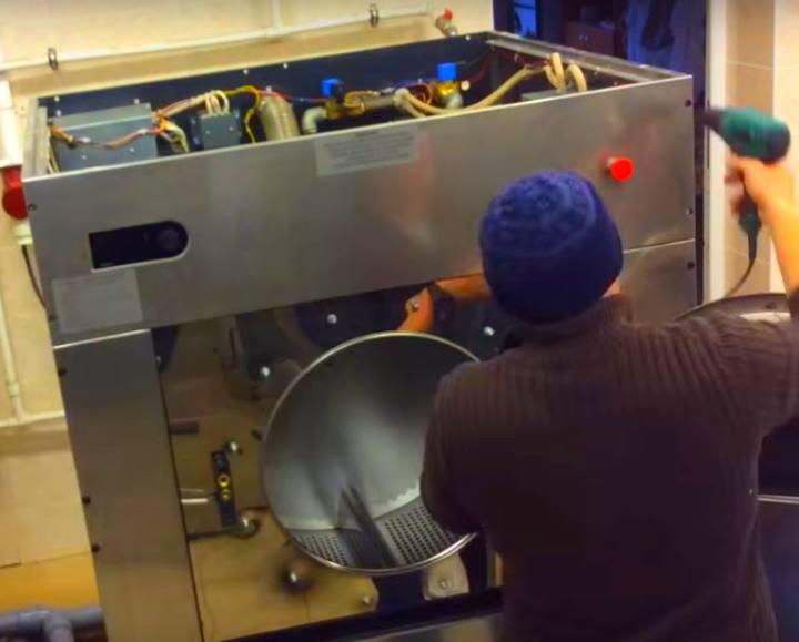 Ремонт промышленной машинки для стирки