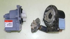Старая и новая помпа стиральной машины