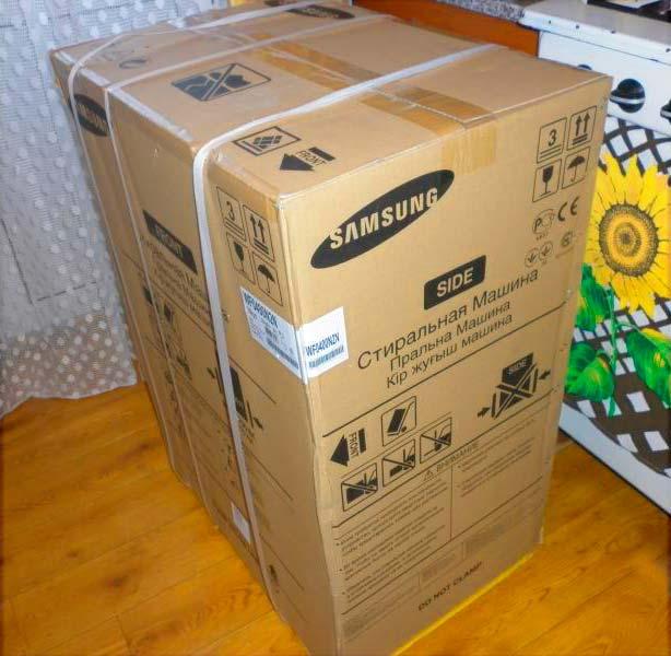 Стиральная машина в упаковке