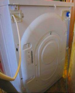 Задняя панель стиральной машины Индезит