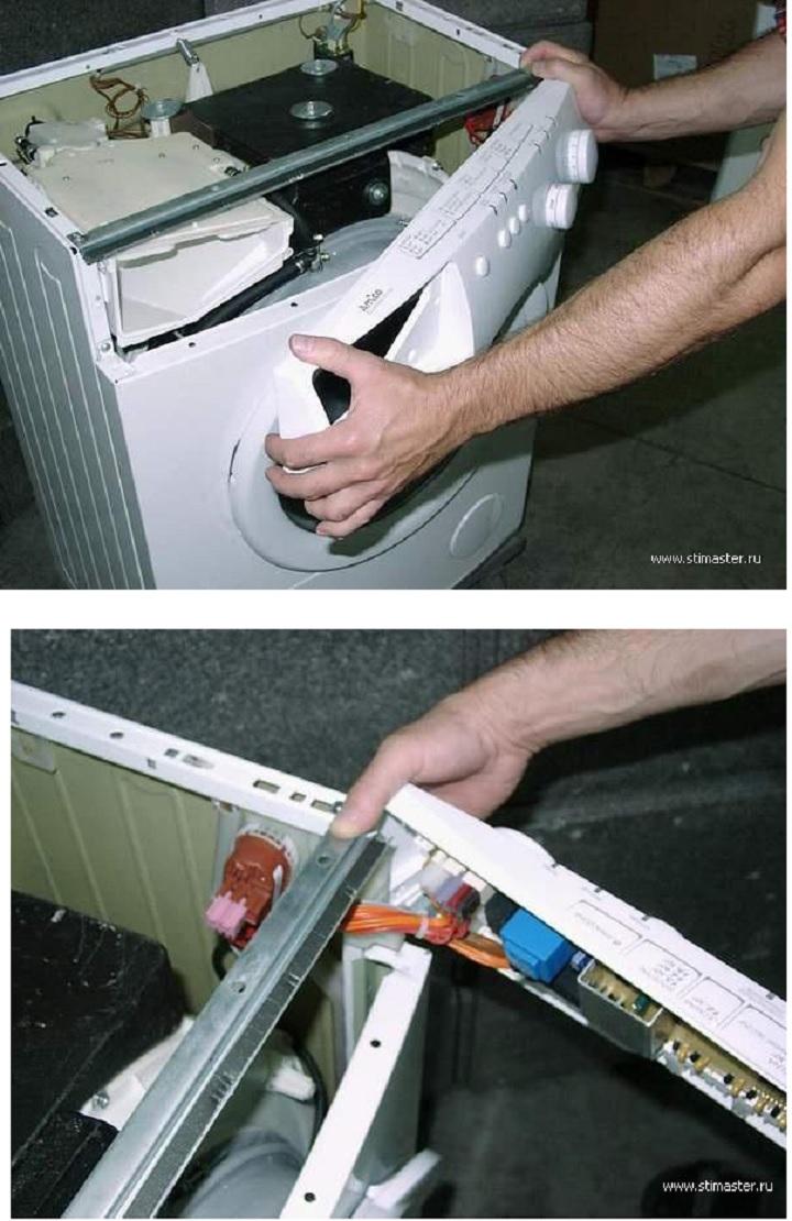 Вынимаем панель управления из стиральной машины