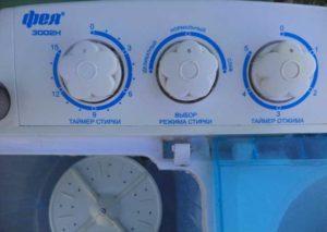 Таймер стиральной машины - полуавтомата на панели