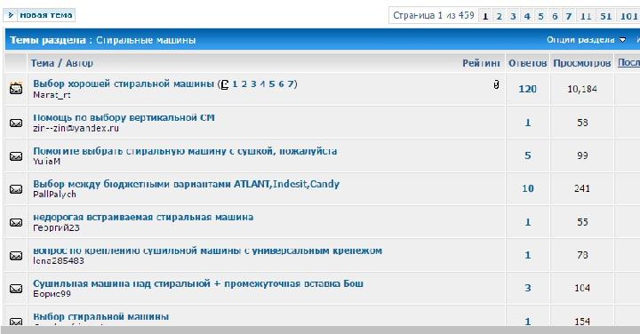 Внешний вид странички форума