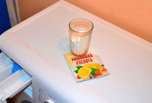 Чистка стиральной машины при помощи лимонной кислоты