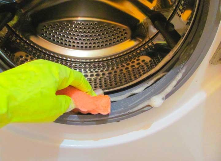 Почистить резинку в стиральной машине автомат. Видео, чем и как отмыть?