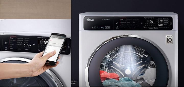 Привязка к управлению смартфоном машинки LG F12U1НВS4
