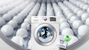 Функция EcoBubble в стиральной машине