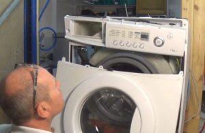 Снимаем переднюю часть стиральной машины