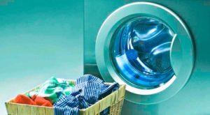 Тестовая первая стирка без белья в стиральной машине