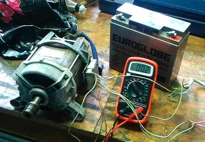 генератор из двигателя стиральной