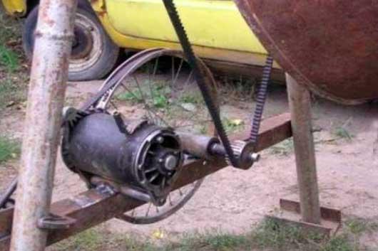 Мотор из бетономешалки