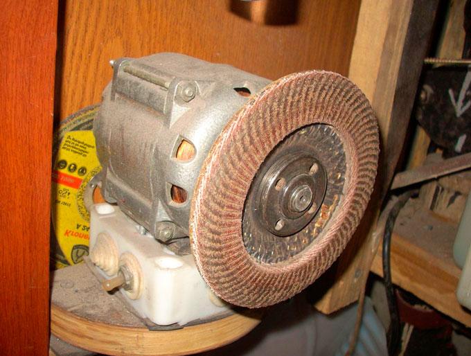 Наждак из двигателя стиральной