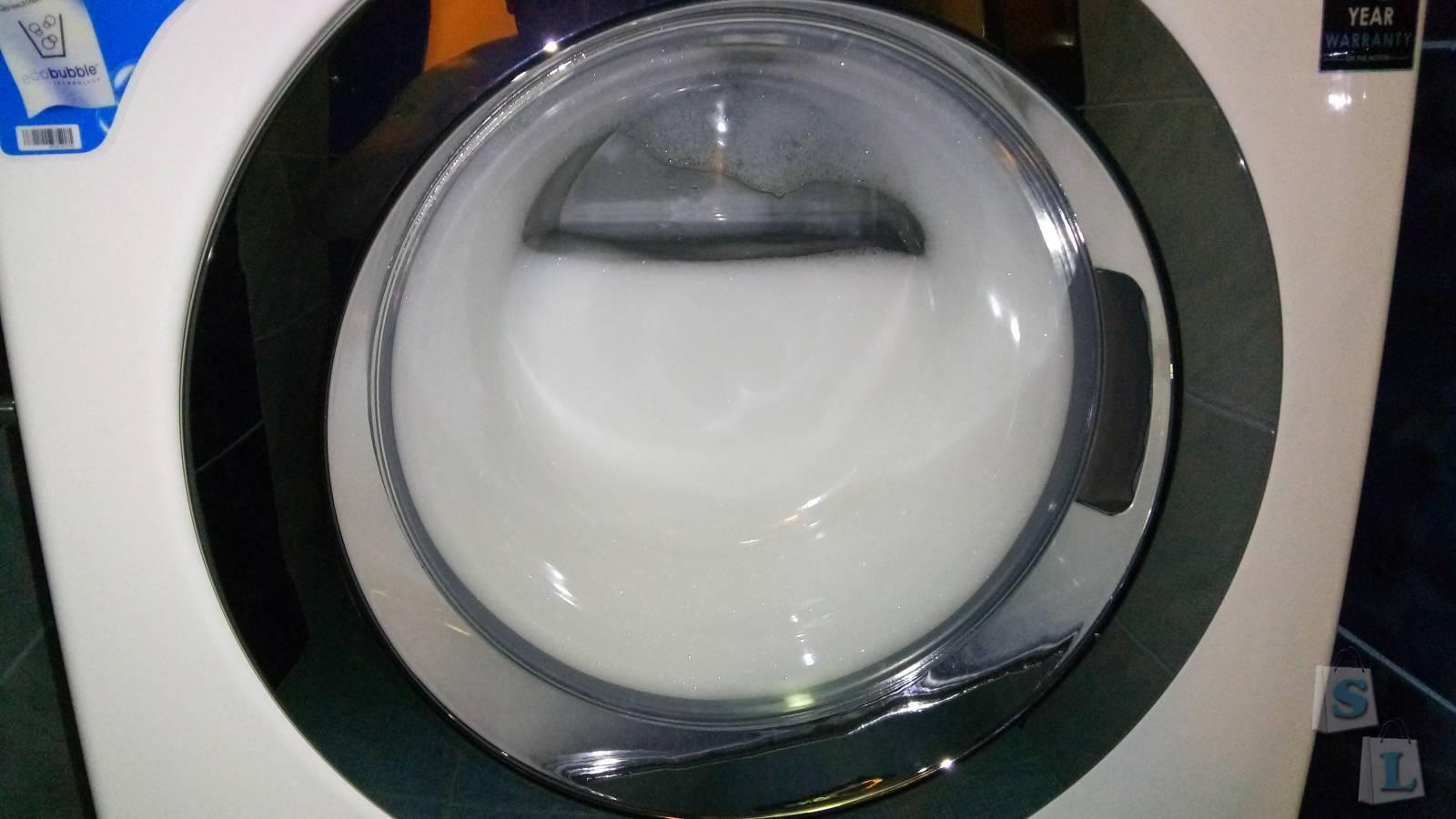 Действие аквастопа при повышенном пенообразовании в ммашинке