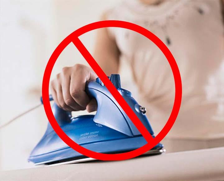 Запрещена глажка мембранной одежды