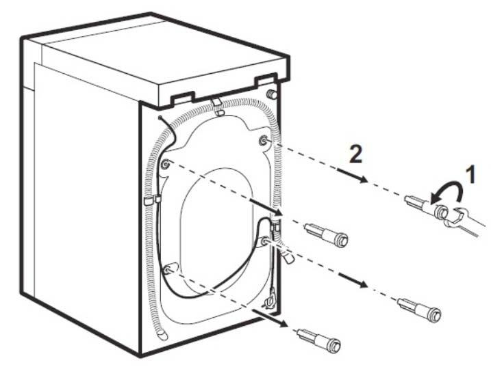 Транспогртировочные болты стиральной машины