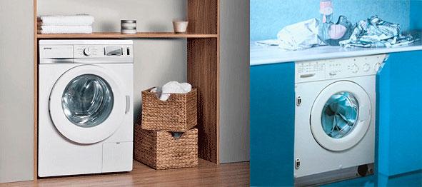 Встроенные в мебель стиральные машинки