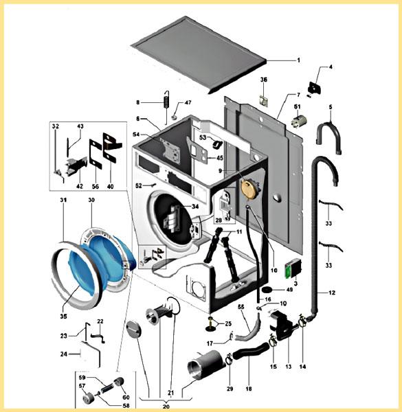детали разборки стиральной машины