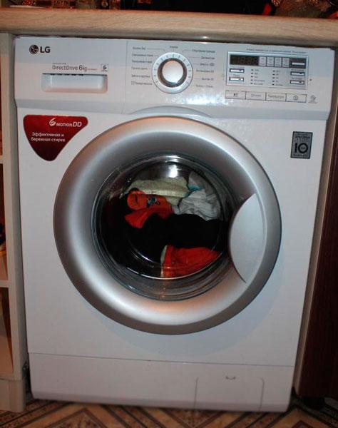 Загруженная стиральная машина