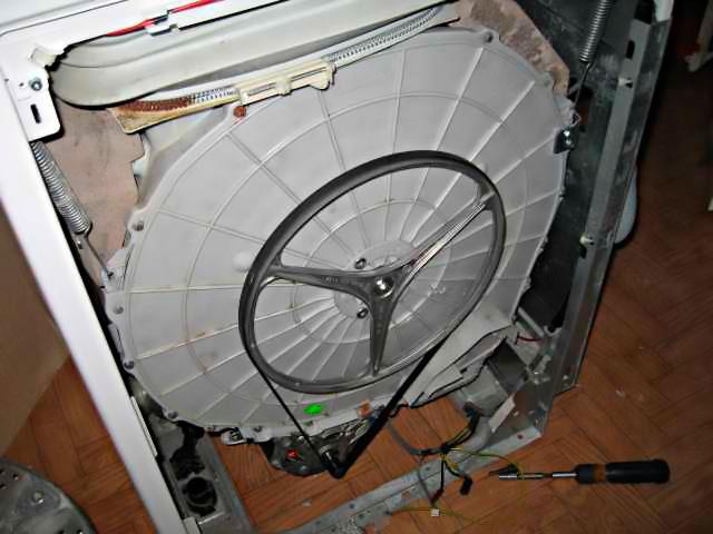 Разборка и ремонт барабана стиральной машины