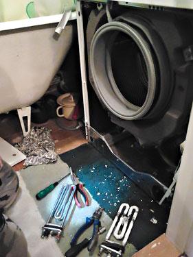 Разборка стиральной машины и ремонт тена