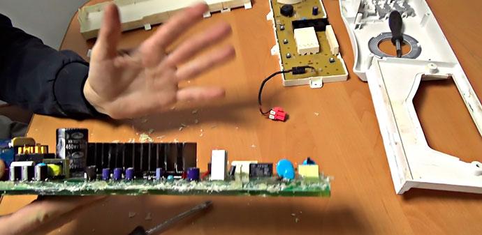 Ремонт модуля управления стиральной машинки