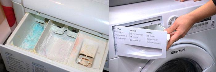 Виды контейнеров в стиральной машине