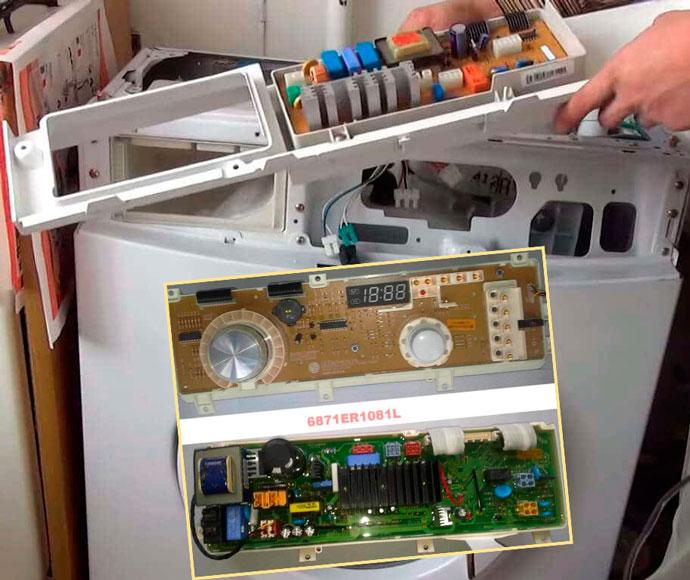 Модуль упарвленяи в стиральной машине извлечение