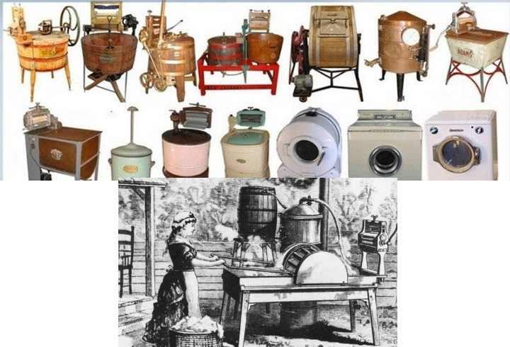 Самые ранние стиральные машины