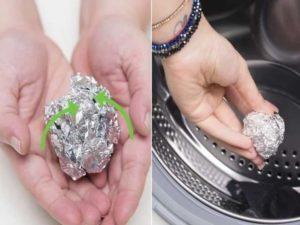 Шарики из фольги и других материалов помогут в стирке